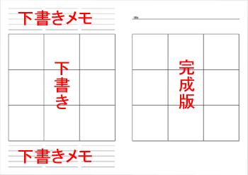 3×3セルの使用展開