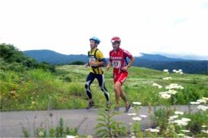 森吉山山麓高原のオンロードをひた走る