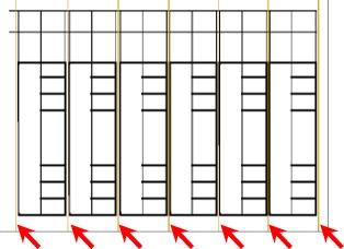 nolikk,黄色のガイドラインに沿って切り離す